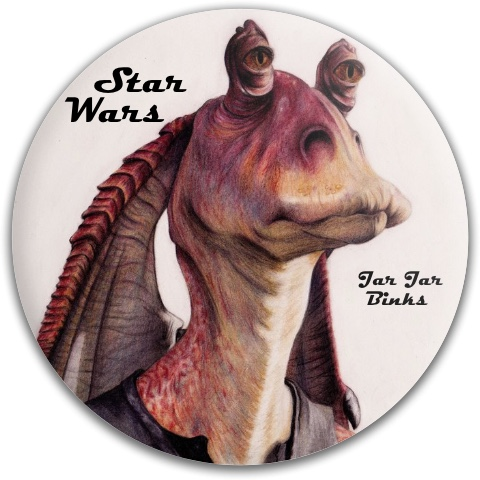 Jar Jar Binks Dynamic Discs Fuzion Felon Driver Disc