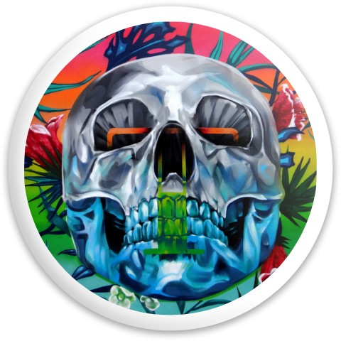 Design #63668 (Skull) Dynamic Discs Fuzion Sheriff Driver Disc