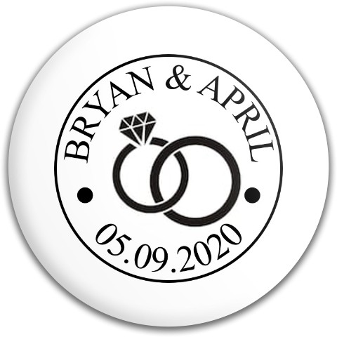 Wedding Logo_Bryan and April Latitude 64 Gold Line Compass Midrange Disc