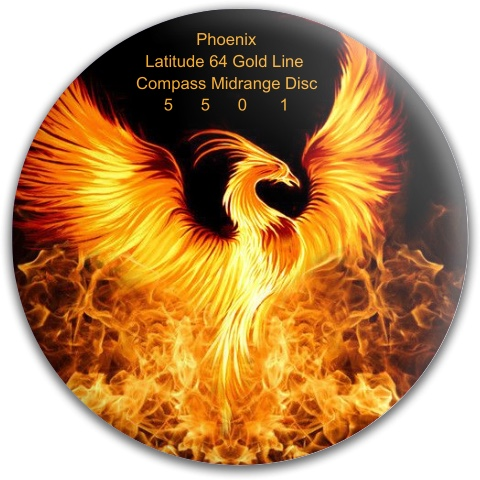Latitude 64 Gold Line Compass Midrange Disc  #72697