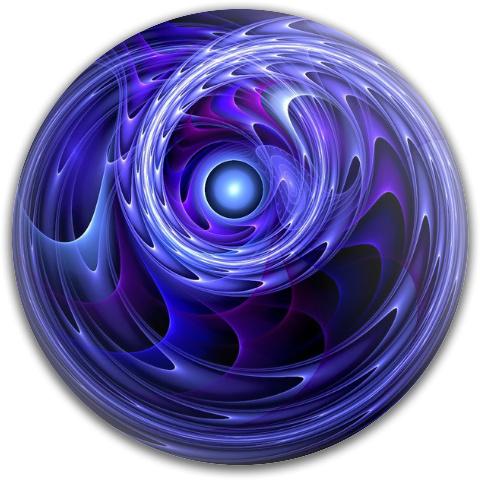 Spiral Blue by Craig Larsen Dynamic Discs Fuzion Judge Putter Disc