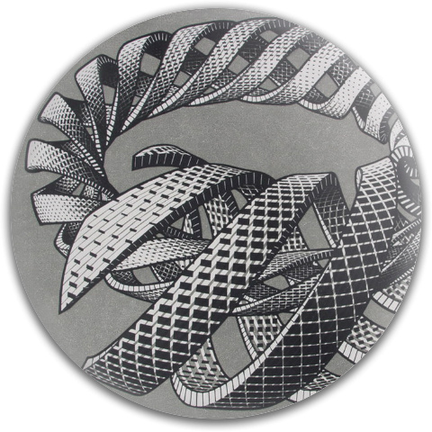 Cycle Spirals and Snakes by Escher MVP Neutron Resistor Driver Disc