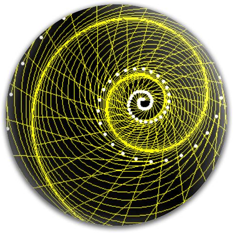 Equiangular Spiral Evolute MVP Neutron Medium Ion Putter Disc