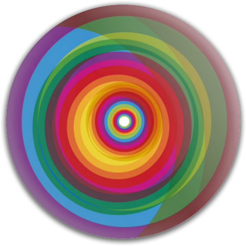 Spiral Rainbow by VectorBackgrounds Dynamic Discs Fuzion Truth Midrange Disc