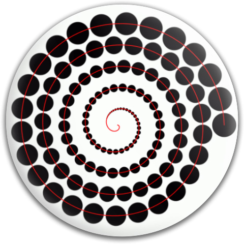 Spiral of Circles MVP Neutron Medium Ion Putter Disc