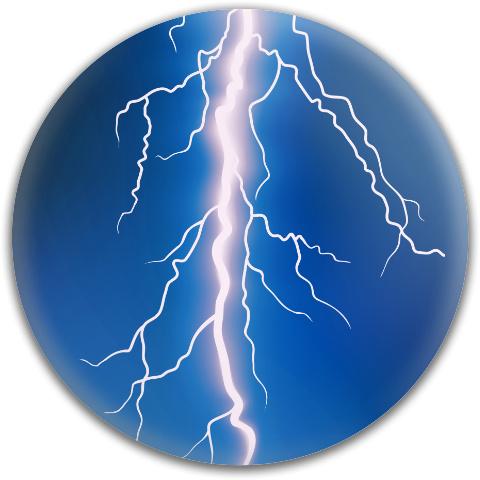 Lightning Bolt Dynamic Discs Fuzion Verdict Midrange Disc